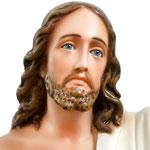 statua Gesù risorto cm 85 -volto