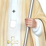 statua San Giovanni Paolo II cm 155 - mani