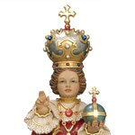 statua Gesù Bambino di Praga in legno - volto