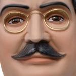 busto San Giuseppe Moscati cm. 35 - volto dettaglio