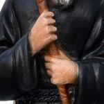 statua San Francesco di Paola cm 22 - mani