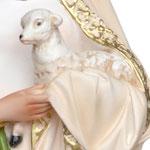 vendita statua Sant' Agnese in resina cm 60 - mani