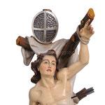 statua San Sebastiano in legno - volto