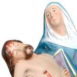 statua Madonna Pietà cm 25 - volto