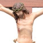 statua Cristo in croce cm 70 -volto