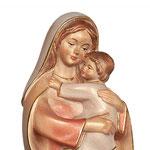statua Madonna della speranza in legno - volto