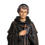 statua San Peregrino in legno - volto