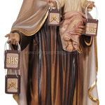 statua Madonna del Carmine in legno - busto