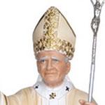 statua San Giovanni Paolo II cm 60 - volto