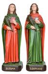 statua Santi Cosma e Damiano cm 60