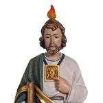 statua San Giuda Taddeo in legno - volto
