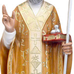statua San Nicola cm 65 -mani