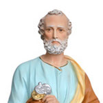 statua San Pietro cm 60 -volto