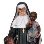 statua Santa Caterina Drexel in legno - volto