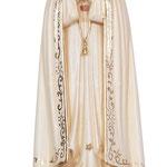 statua Madonna di Fatima con corona in legno - busto