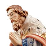 statua Re Magio inginocchiato - volto