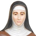 statua Santa Chiara cm 165 - volto