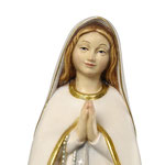 statua Madonna del pellegrino in legno - volto