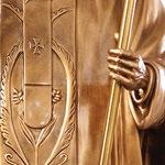 statua San Giovanni Paolo II cm 200 color bronzo - mani
