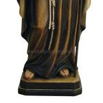 statua San Benedetto in legno - base