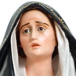 statua Madonna Addolorata cm 107 - Volto