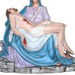statua Madonna Pietà cm 130 - Gesù