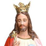 statua Cristo Re cm 160 -volto