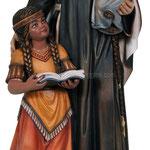 statua Santa Caterina Drexel in legno - busto