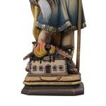 statua San Floriano in legno - base