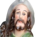 statua San Rocco cm 30 -volto