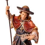 statua San Leonardo in legno - volto