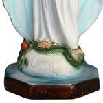 statua Madonna Miracolosa cm 40 resina - base