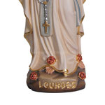 statua Madonna di Lourdes con corona in legno - base
