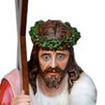 statua Gesù cadente cm 127 -volto
