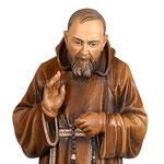 statua Padre Pio in legno - volto
