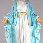 statua Madonna Immacolata cm 40 resina illuminata - mani