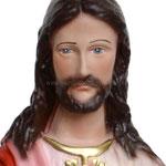 statua Sacro Cuore di Gesù benedicente cm 30 -volto