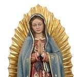 statua Madonna di Guadalupe in legno - volto