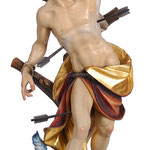 statua San Sebastiano in legno - busto