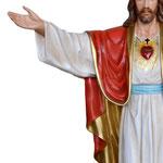 statua Sacro Cuore di Gesù braccia aperte cm 200 -mani
