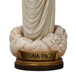 statua Madonna di Medjugorje Regina Pacis in legno - base
