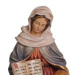 statua Sant' Anna in legno - base - volto