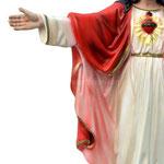 statua Sacro Cuore di Gesù braccia aperte cm 65 -mani