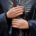 statua San Francesco di Paola cm 110 - mani