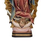 statua Madonna di Guadalupe in legno - base