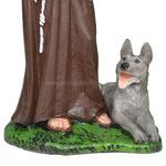 statua San Francesco d' Assisi cm. 30 - base