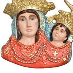 busto da parete Madonna dell' Arco cm 35 - base