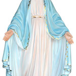 statua Madonna Miracolosa cm 132 - mani
