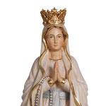 statua Madonna di Lourdes con corona in legno - volto
