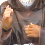 statua San Padre Pio cm 30 -mani